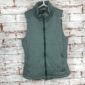 Athleta Vest Size Large Women's Quilted Top Green